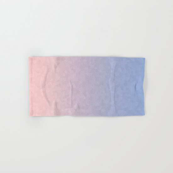 Rose Quartz and Serenity Mosaic Crystals Hand & Bath Towel