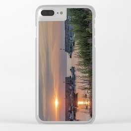 Lanes Cove Sunset 7-28-19 Clear iPhone Case