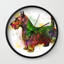 Dog 149 Fox Terrier Wall Clock