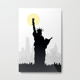 Drunk Liberty Metal Print