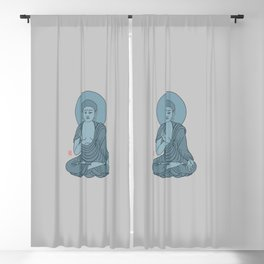 Blue Buddha Blackout Curtain