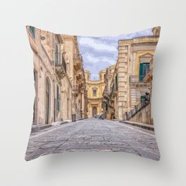 Let's Walk For A While Throw Pillow