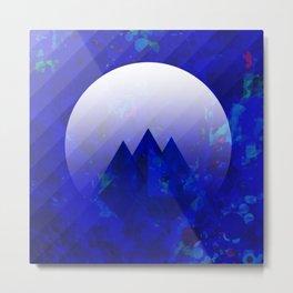 Three Cobalt Peaks Metal Print