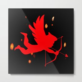 Cupid With Bow And Arrow Metal Print