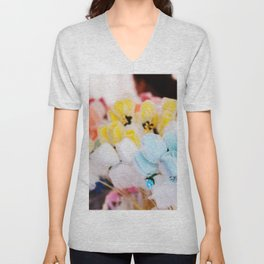 Colorful flowers at bazaar Unisex V-Neck