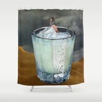 drink Shower Curtains featuring DRINK by Beth Hoeckel