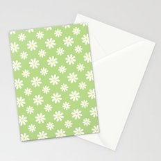 Daisies on Green Stationery Cards