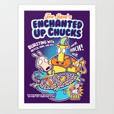 Enchanted Up Chucks Art Print
