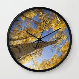 Aspen Colorado Looking Up Wall Clock