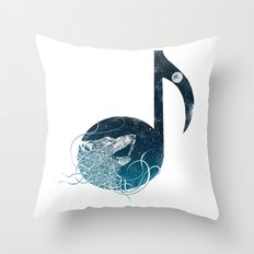 Night Sounds Throw Pillow