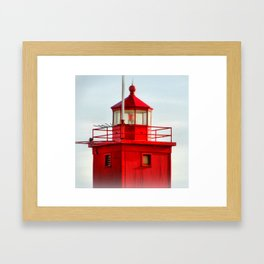 Big Red Lighthouse Framed Art Print