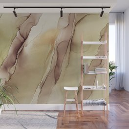 Abstract hand painted alcohol ink texture Wall Mural