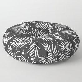 Minimal Mistletoe Bw Floor Pillow