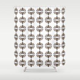 Death's Head Hawkmoth Pattern - Katrina Niswander Shower Curtain