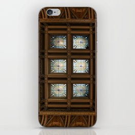 Stained glass on the ceiling iPhone Skin