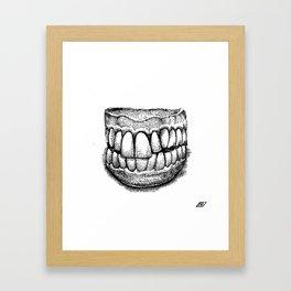 Grandpa's Dentures Framed Art Print