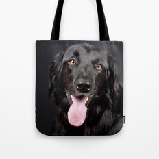 Happy Black Labrador Retriever Tote Bag
