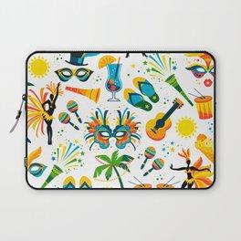 Colorful Brazilian Beach Tropical Carnaval Laptop Sleeve