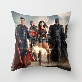 Justice League Throw Pillow
