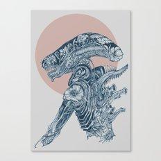 Floral Alien Canvas Print
