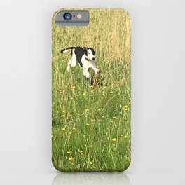 Happiness is running wild and free, and not letting your feet touch the ground! iPhone Case