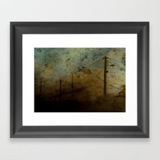 The Skies Grew Darker (It Made Our Hearts Seem Lighter) Framed Art Print