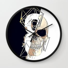 Skull illustration. Wall Clock