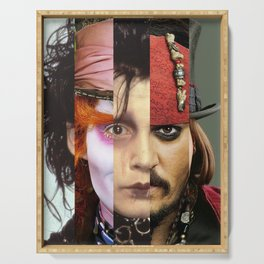 Faces Johnny Depp Serving Tray