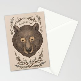 The Bear and Cedar Stationery Cards