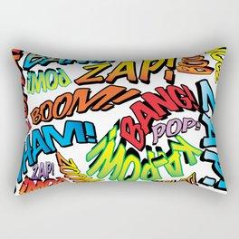 Comic Book Sounds Rectangular Pillow