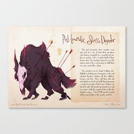 Real Monsters- PTSD Canvas Print