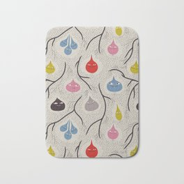 Under ground the bulbs could hardly wait for spring - Fabric pattern Bath Mat
