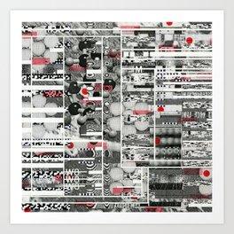 Runner Request (P/D3 Glitch Collage Studies) Art Print