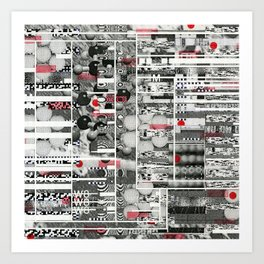 Runner Request (P/D3 Glitch Collage Studies) Art Print