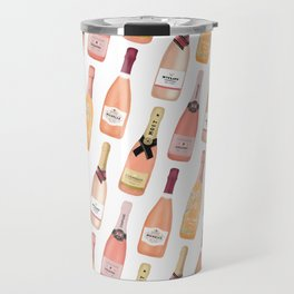 Rose Champagne Bottles Travel Mug