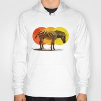 card Hoodies featuring Zebra Card by Joshie