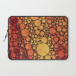 Orange and Yellow Circles and Triangles Laptop Sleeve