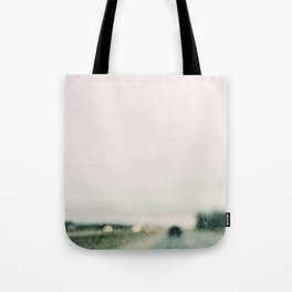 Road and Rain Tote Bag