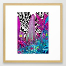Tribal Iron Framed Art Print