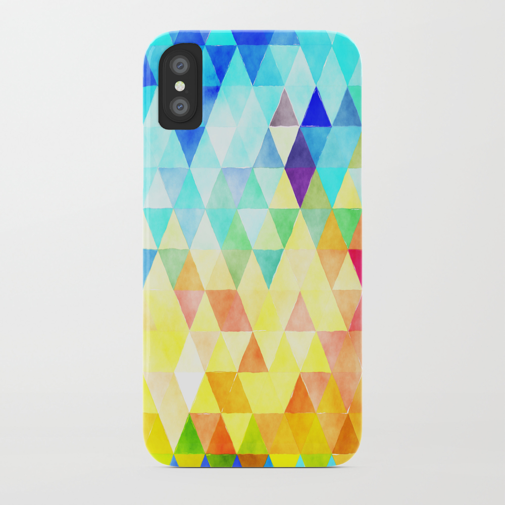 Vibrant Triangles Pattern 08 Phone Case by Bridax PCS8484554