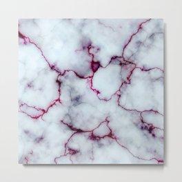 Blood Marble Metal Print