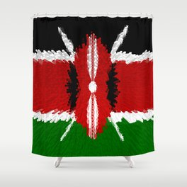 Extruded Flag of Kenya Shower Curtain