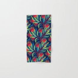Pohutukawa - Red / Green Hand & Bath Towel