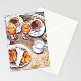 Breakfast sketching Stationery Cards