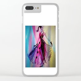 Disco Nights Fashion Illustration By James Thomas Ryan Clear iPhone Case