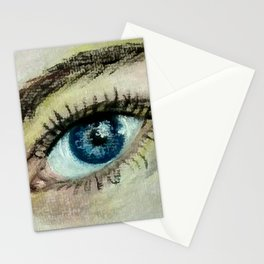 Eye (oil painting) Stationery Cards