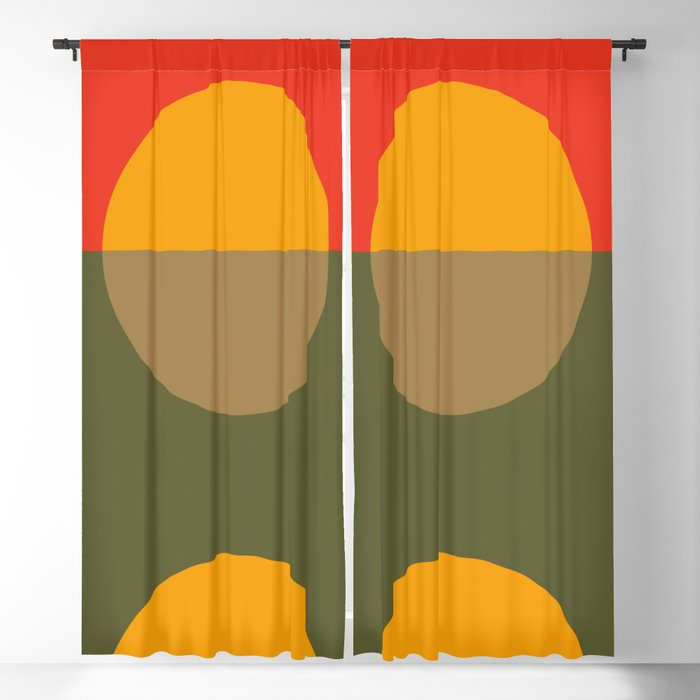 Spring- Pantone Warm color Blackout Curtain