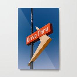 New Mexico Drive Thru Metal Print