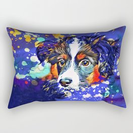Abstractly Australian Shepherd Rectangular Pillow