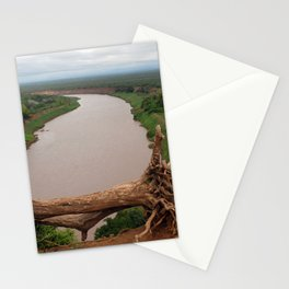 Omo River Valley Landscape Fallen Tree, Ethiopia, Africa Stationery Cards